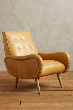 Leather Losange Armchair #anthroregistry