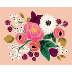 Vintage Blossoms Peach Print by Rifle Paper Co. | Chapters
