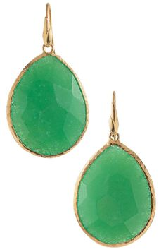 Add color to your accessories - Green Lantern Earrings are subtle, beautiful and on trend!  Create a color blocked look with bright tops or wear more romantically with creams or white.