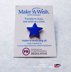 Make a wish charity badge campaign with informative backing card - let the ML charity team assist your fundraising campaign or event, we know how to maximise your profits with our 32 years know how allied to guaranteed lowest price promise.