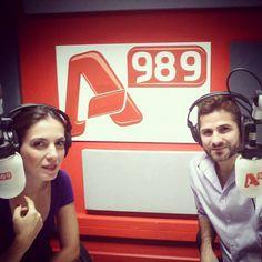 """Αυτή την Κυριακή 07/12 το απόγευμα θα βρεθώ στο ραδιόφωνο του Alpha 989 στην εκπομπή του Χρήστου Βαρθαλίτη. Θα συζητήσουμε για το νέο δίσκο """"Ραντάρ"""" με τον Μίκη Θεοδωράκη καθώς και για τη συνεργασία μου με τον Γιάννη Πάριο στη Θεσσαλονίκη!  Στις 17.00 το απόγευμα στο ραδιόφωνο του Alpha TV! Η εκπομπή θα μεταδοθεί με εικόνα και διαδικτυακά. Stay tuned! — with Foteini Darra-Φωτεινή Δάρρα, Foteini Darra-b, Christos Varthalitis and christos varthalitis at Alpha 989."""