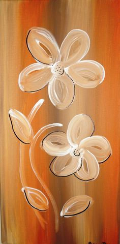 Simple Canvas Paintings, Easy Canvas Painting, Diy Canvas Art, Easy Paintings, Diy Painting, Painting & Drawing, Canvas Ideas, Wine And Canvas, Acrylic Painting Flowers