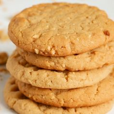 Chewy peanut butter cookies recipe made with chopped nuts and a creamy spread that everyone will think you bought from a bakery. Chewy Peanut Butter Cookies, Easy Chocolate Chip Cookies, Bakery Butter Cookies Recipe, Cookies Soft, Baking Chocolate, Caramel Cookies, Baking Recipes, Cookie Recipes, Dessert Recipes