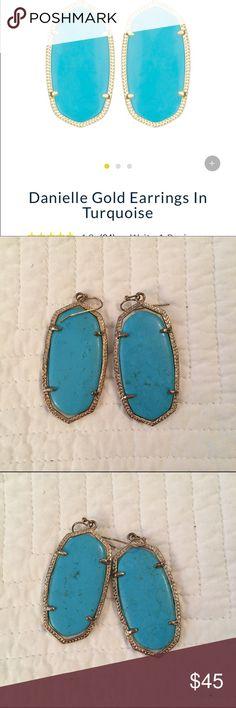 Kendra Scott Danielle Large Earring Large, turquoise, Kendra Scott, Danielle Earring Kendra Scott Jewelry Earrings