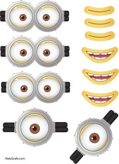 Minion Goggles Mouths Free Printable Despicable Me 2 Picture Mehr Minion Theme, Minion Movie, Minion Birthday, Funny Minion, Funny Jokes, Despicable Me Party, Minion Party, Halloween Minions, 4th Birthday Parties