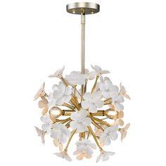 Posy White Gold Four-Light Pendant