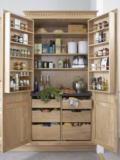 24 Beautiful And Functional Free Standing Kitchen Larder Units That Make Your Cooking Simple