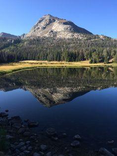 Reflection of Schiestler Peak seen in Big Sandy Lake Wind...