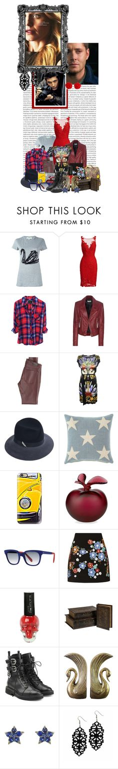 """""""'People are going to tell you your whole life who you are. You just gotta punch back and say 'no, this is who I am'"""" by artemislb ❤ liked on Polyvore featuring Oris, STELLA McCARTNEY, ML Monique Lhuillier, Balenciaga, AG Adriano Goldschmied, Versace, Vivien Sheriff, Fresh American, Casetify and Lalique"""