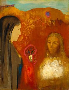Odilon Redon Christ & the Samaritan Woman, 1895 Städel Museum, Frankfurt am Main