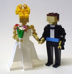 Andrew could totally do something like this for your cake topper!