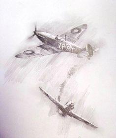 Spitfires hurricanes and messerschmitt on pinterest for Enemy tattoo everett