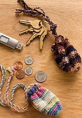 Ravelry: Key Ring Pouch pattern by Kathleen Sams