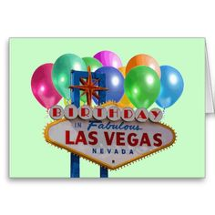 21 best las vegas birthday cards images on pinterest anniversary birthday in fabulous las vegas card m4hsunfo
