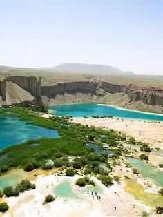 Band-e Amir National Park is Afghanistan's first national park, located in the Bamyan Province.