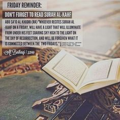 #Friday #Jummah #SurahKahf REFLECT | ACT | SHARE