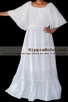 Size Handmade Hippie Boho Gypsy Bohemian Bell Wide Sleeve White Maxi Dress Plus Size Women's Long DressProduct description Material : Gauze Cotton Length : Lining : Lining included. Size : and Color : More than 30 colors available. Plus Size Sundress, Plus Size Maxi Dresses, White Maxi Dresses, Plus Size Outfits, Linen Dresses, Peasant Dresses, White Dress, Beach Dresses, Wedding Dresses