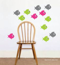 Fish Wall Decal Set of 12 New Design