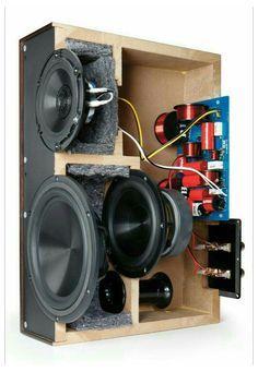 Hifi Amplifier, Audiophile Speakers, Hifi Audio, Audio Speakers, Diy Subwoofer, Subwoofer Box Design, Speaker Box Design, Diy Hifi, Diy Boombox