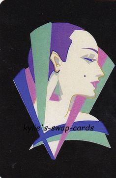 SE52 LOVELY LADIES swap playing cards MINT COND stunning Art Deco style lady #3