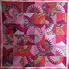 """""""Lap Quilt-Pretty in Pink New York Beauty"""" (posted to Etsy by lynndalou)"""
