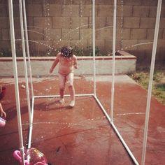 PVC Pipe water fun outside-fun