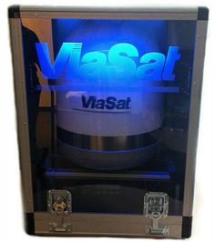 A transparent lighted prototype case for  Satellite technology manufactured by ViaSat. Manufactured by South-Pak.