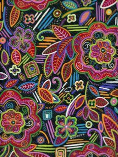 (9099) flower geometric painting naive – fiore geometrico etnico pittorico –…