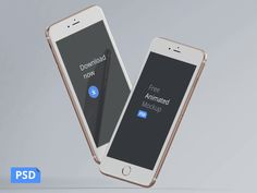 Free animated Video iPhones' Mockup that you can use in Photoshop, no After Effects or similar soft needed. Also, you can export each frame separately as a static mockup, there are 45 unique frames at resolution 1200 x 900 px. Mockups Gratis, App Design, Free Design, Free Iphone 6, Gif Iphone, Animation In Photoshop, Photoshop Actions, Ipad, Phone Mockup