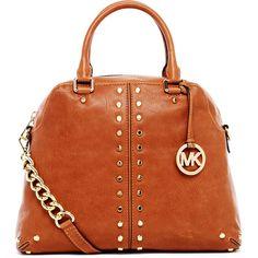 MICHAEL Michael Kors Uptown Astor Large Satchel Bag ($448) ❤ liked on Polyvore