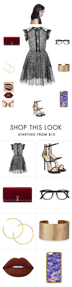 """""""K B M S W"""" by queen-kaitlyn ❤ liked on Polyvore featuring Elie Saab, Giuseppe Zanotti, Louise et Cie, Panacea, Lime Crime, Skinnydip and Donna Bella Designs"""