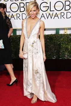 Sienna Miller While most actresses and red carpet starlets change up their styles on a whim, Sienna Miller has stayed true to her boho roots for the past decade. This plunging-neck, embroidered Miu Miu gown — complemented by delicate accents from Tiffany & Co. — was fairy-tale perfection.  ...