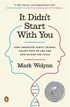 "Help yourself heal from inherited family trauma. Read ""It Didn't Start with You: How Inherited Family Trauma Shapes Who We Are and How to End the Cycle"" by Mark Wolynn. This research is changing how I perceive myself, my family and the world. Got Books, Book Club Books, Books To Read, Reading Lists, Book Lists, It Pdf, Obsessive Thoughts, Vie Positive, What To Read"