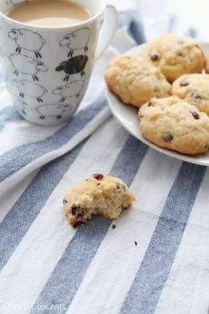 The best coconut chocolate chip cookies: chewy and delicious