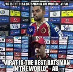 Abd & vk are awsm Funny School Jokes, School Humor, Virat Kohli Wallpapers, Virat And Anushka, Ab De Villiers, David Warner, Cricket Sport, Crazy Fans, Just A Game