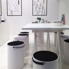#designletters When Design Letters & Friends are on tour (=fairs) we sit on Stool & Storage designed by @christianflindt ✌️#wealsohideourmessinthem#perfect#designletters#designletters&friends