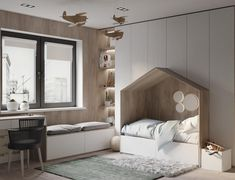 You have a nice living room but no room? And if you partition your living room to create this room you dream? How to create two separate spaces in a room without heavy work? Kids Bedroom Designs, Kids Room Design, Bedroom Ideas, Baby Bedroom, Girls Bedroom, Bed In Closet, Minimalist Kids, Kids Bedroom Furniture, Outdoor Furniture