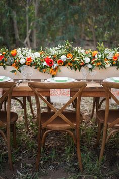 orange wedding inspiration, photo by Michael and Kate Photography http://ruffledblog.com/lake-hodges-wedding-inspiration #weddingideas