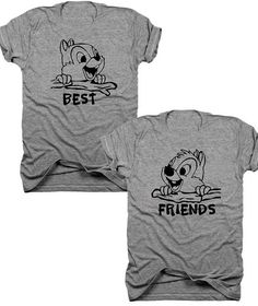 2-Pack Best Friends Chip and Dale t-shirt set B046