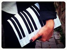 Felt Clutch/ Piano