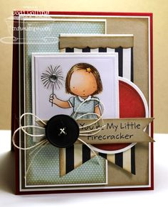 Pure Innocence My Little Firecracker; Square Stax Set 1 Die-namics; Square STAX Set 2 Die-namics; First Place Award Ribbon Die-namics; Solid Bracket Border Die-namics - Jodi Collins