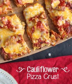 This is a delicious Cauliflower Pizza Crust Recipe! If you've never tried this alternative, we think you'll be surprised! Check out the pics