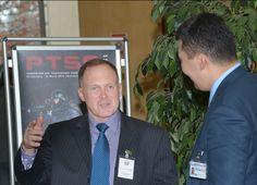 @doctorbrannon @Sam_J_Mullins James Howcroft, #PTSS1503 director talks with a participant.