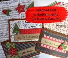Stampin' Up!, Stitched Felt Embellishments, Quilted Christmas designer series paper, Merry Music Speciality Designer Series Paper, 2017 Holiday Catalogue, card kits, ready to make Christmas cards