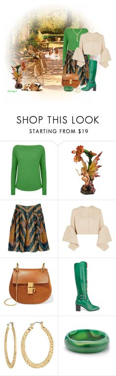 """A Country Weekend"" by sherryvl ❤ liked on Polyvore featuring Isolá, Ralph Lauren Black Label, Oscar de la Renta, Delpozo, Chloé, Gucci, Fragments, Palm Beach Jewelry, Ross-Simons and country"