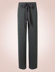 Pure Cashmere Straight Leg Pyjama Bottoms | M&S