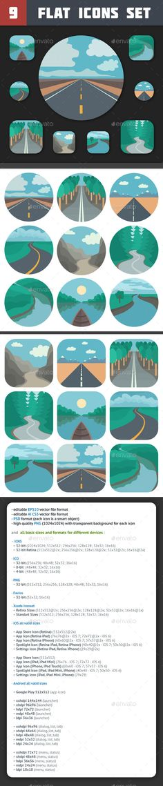 Travel Icons Set — Photoshop PSD #nature #adventure • Available here → https://graphicriver.net/item/travel-icons-set/6669682?ref=pxcr