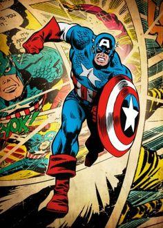 captain america captainamerica steve rogers marvel silver age retro vintage classic