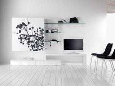 Duebi, Contemporary Wall TV Unit -Many Colour+ Finish Options