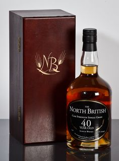 THE NORTH BRITISH SINGLE GRAIN 40 YEAR OLD Single Grain Whisky